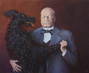 Churchill black dog